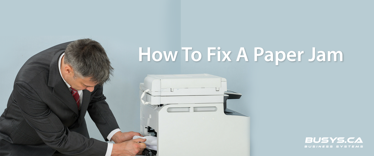 How to fix a paper jam