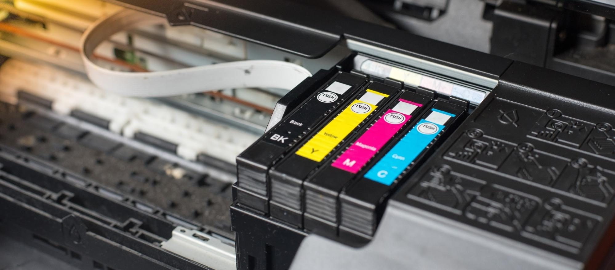 Close-up of a design printer
