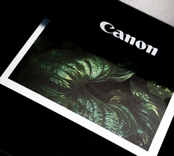 Canon Printer printing green leaves