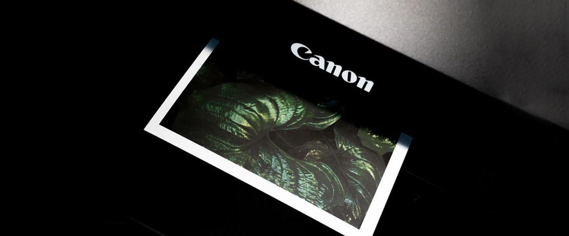Canon Printer printing green leaves