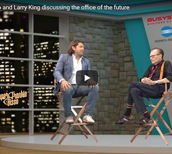 SuperFrankieDisco and Larry King Discussing the Future Office Environment