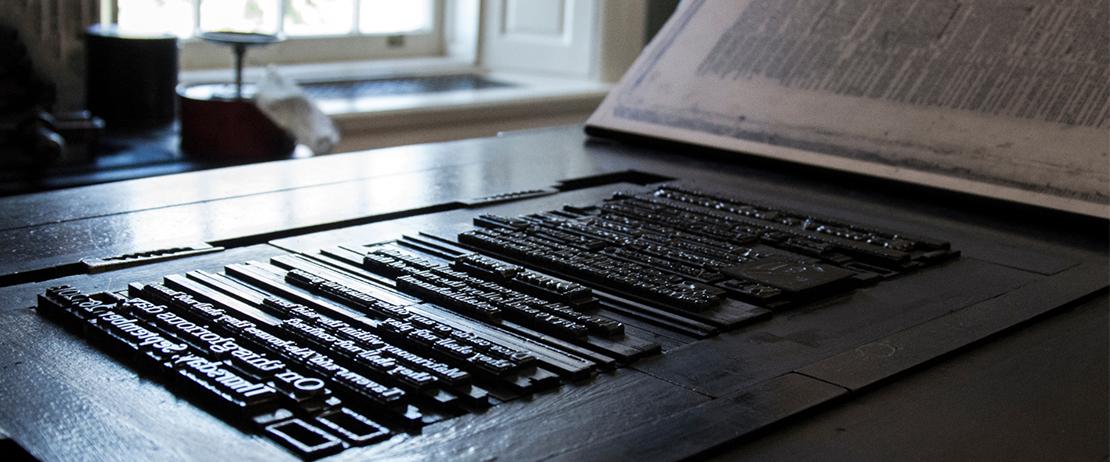 A letterpress for debossing prints