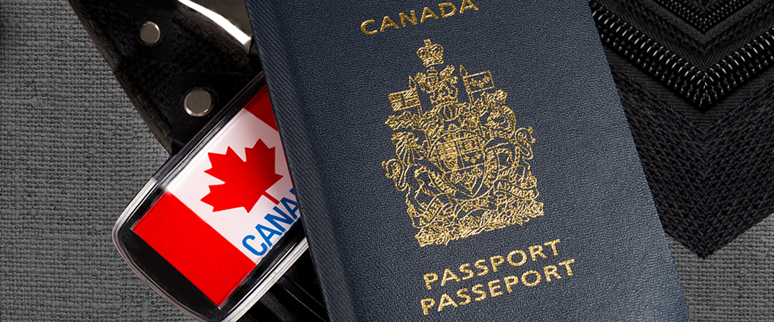 Foiling on a Canadian passport